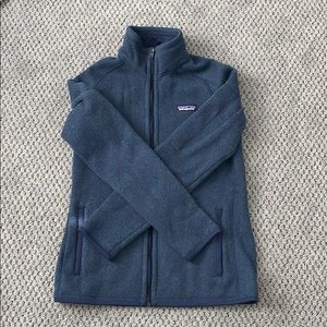 BRAND NEW/NEVER WORN Blue Patagonia fitted zip up